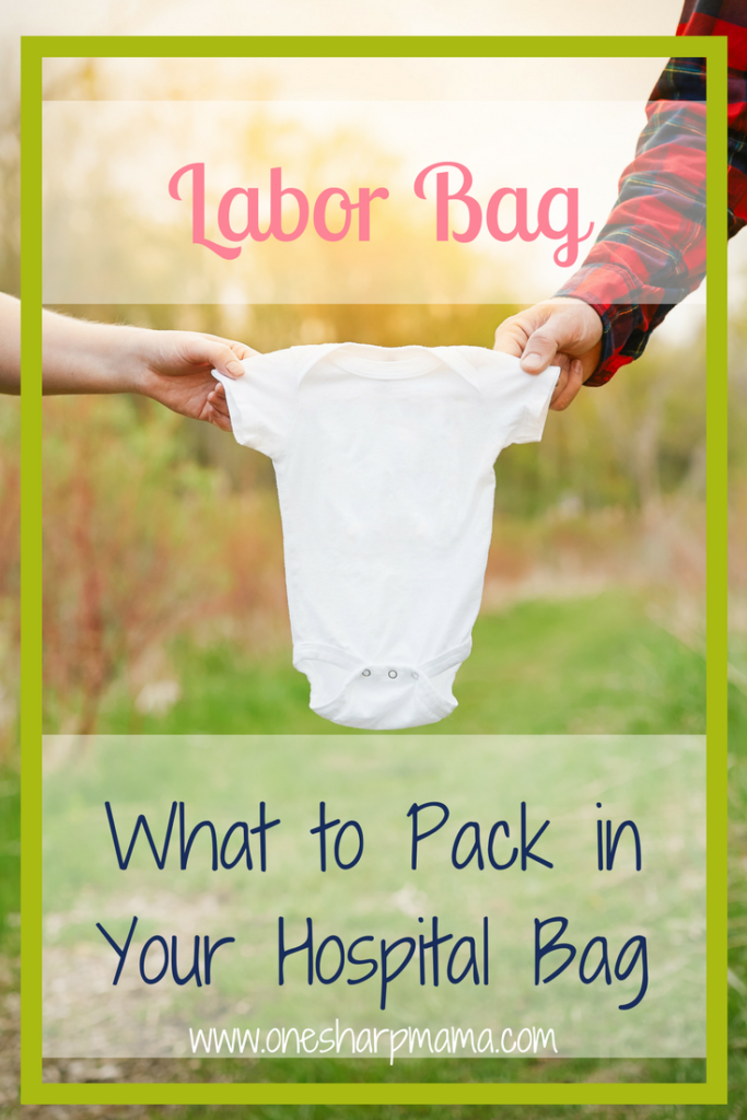 Labor Bag Necessities. Find out what we actually needed in our #laborbag from an experienced mom. #hospital bag #momtobe #firsttimemom #newmom #mamabear #mama