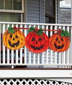 pumpking bunting, halloween pumpkin, halloween bunting, outdoor halloween decorations, outdoor decorations, fall pumpkin decor, fall pumpkin bundting