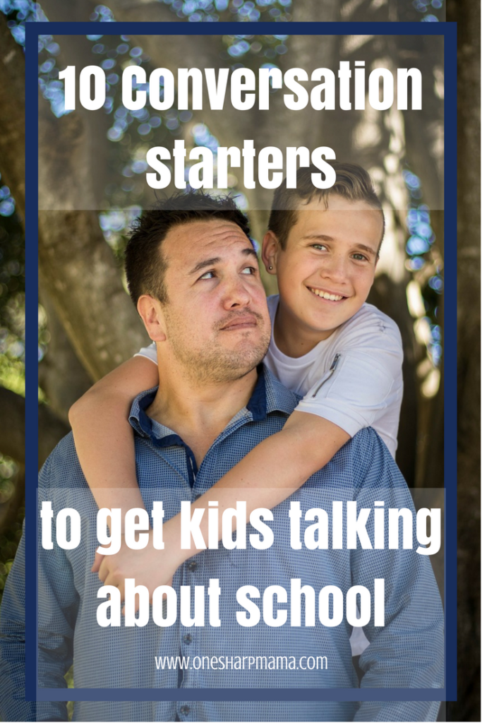back to school conversations to have with your children to get them to talk about their day. Kids need to open up and discuss their school day with their parents. Try these conversation starters today with your kids
