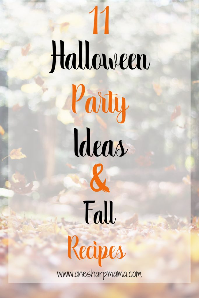 Here are 11 of the best halloween party ideas. All halloween parties need awesome halloween recipes too. #halloweenparty #fallparty #fallfun