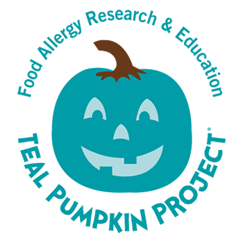 Teal Pumpkin project. To raise awareness for children with food allergies and let them enjoy halloween to by providing allergy safe and different options for children to have instead of normal candy treats