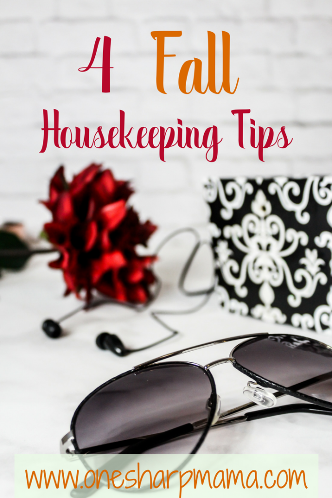 Fall is a great time to clean. here are your 4 fall housekeeping tips that will help you get your house together. #fall #fallfamilyfun #housekeepingtips #housecleaning #falltips
