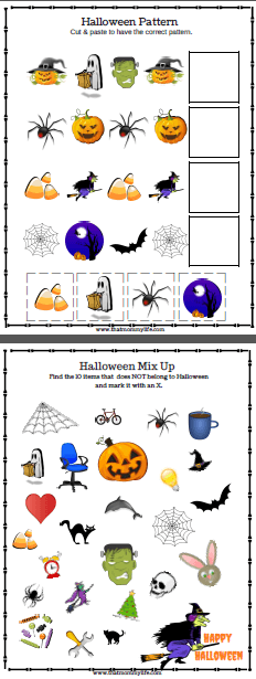 Free printables for Halloween party, halloween party games for kids