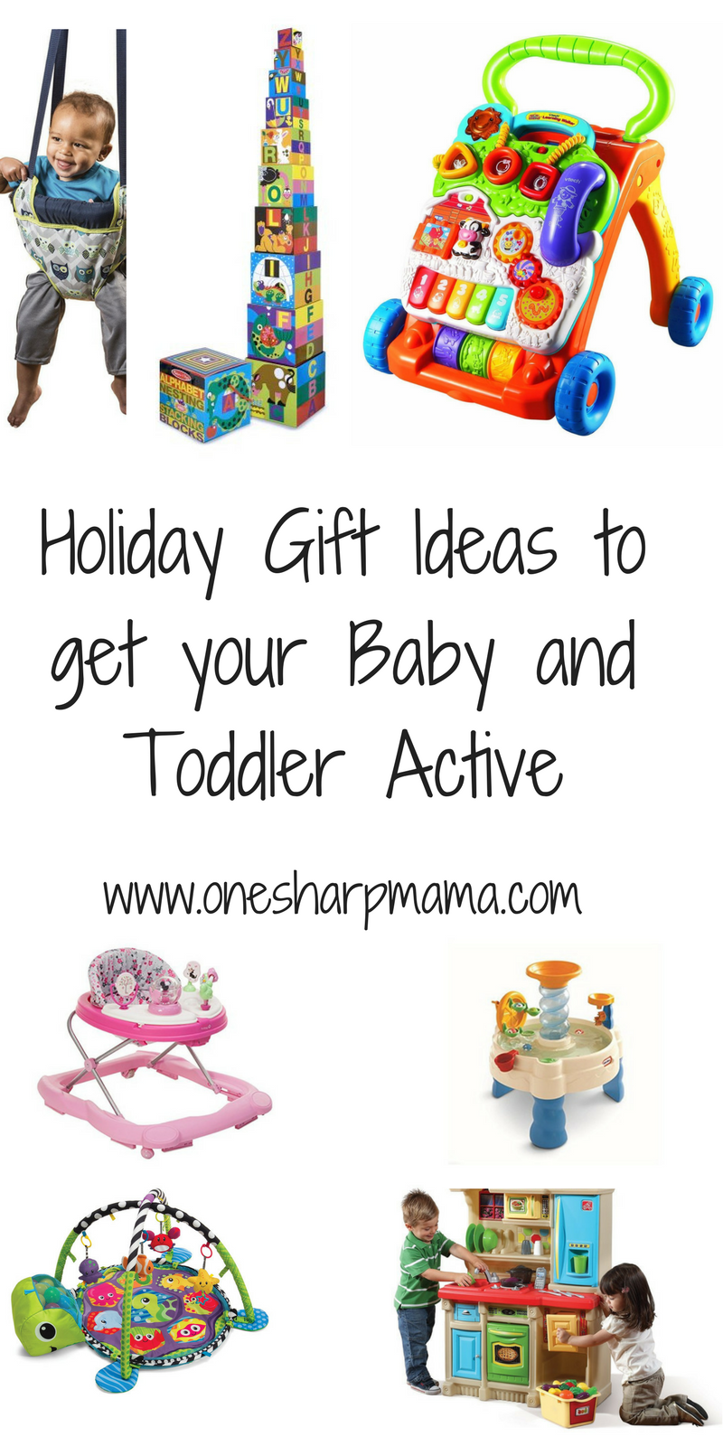If you're looking for the best gift guide for your infant and toddlers, look no further. We have the best educational and developmental toys out there for your children. This all new 2017 infant and toddler gift guide is full of present ideas for infants and toddlers. These are the 2017 hot christmas items. These gift ideas will help get your infant and toddler on the move and staying active. We love finding gifts that get kids moving.