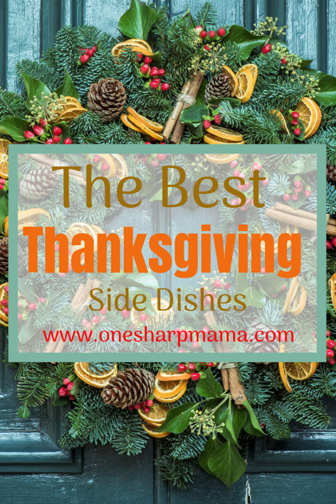fall wreath with text that says best thanksgiving side dish recipe ideas