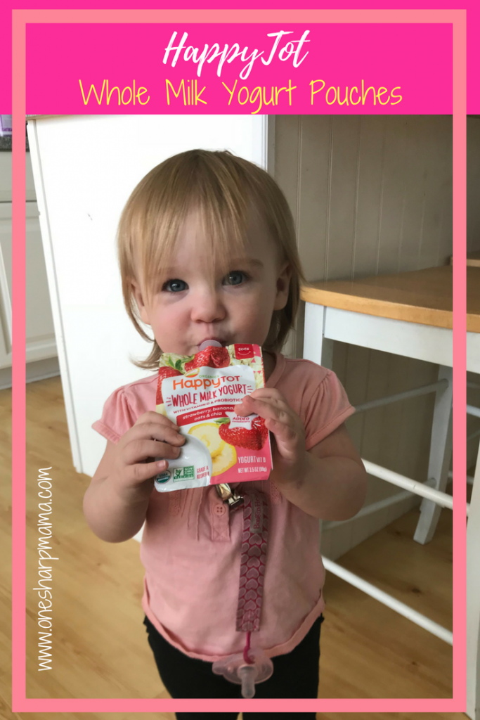 Are you looking for an organic non GMO whole milk yogurt for your toddler? Find out why @HappyFamily and @HappySuperFoods keeps our daughter healthy, happy and on the go. She always has a #happybellies after sucking down these #yogurtpouches #toddlerlife #momlife #momhack #parentinghack yummy yogurt snack on the go for toddler