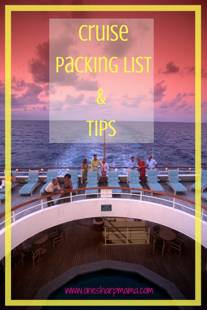 cruise packing list and tips from experienced cruisers. Are you trying to figure out what is necessary to take on your cruise? Find out what your family needs to pack for their cruise with this list. #cruisingtips #cruisetips #packingtips #whattopackforcruise. What to pack for a cruise? Look no further! #traveltips