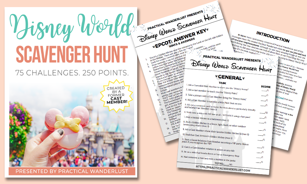 Are you looking for a new and exciting Walt Disney world scavenger hunt? It's a family friendly scavenger hunt that is more than just hidden mickeys. #wdw #disneyfamily #familyfunindisney #disneyland #affiliate