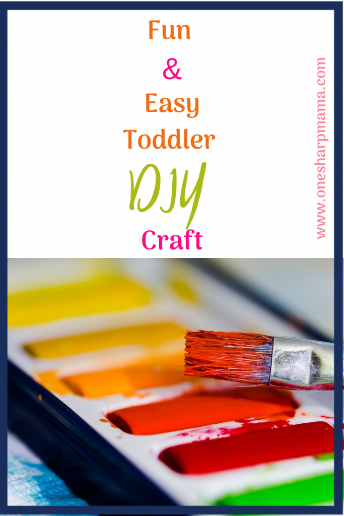 This was the cutest and easiest finger painting craft we have done with our daughter. She loves to finger paint just like any other toddler. This was the perfect toddler craft and will make for the perfect birthday present idea for grandma. #toddlerdiy #diytoddler #toddlerlife #fingerpaint #kidscraft #kids