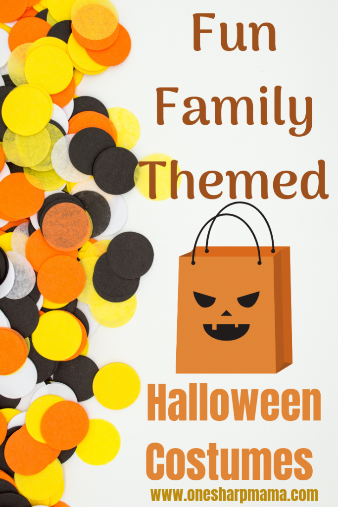 It's that time of the year to find your child Halloween costume. If you're looking into it, I have a list of fun family costume themes. You can see all these halloween costume ideas on this blog post. #halloween #costumeidea #kidcostume #familycostume #familyhalloween  #halloweenideas