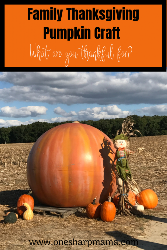 Thanksgiving Pumpkin Craft