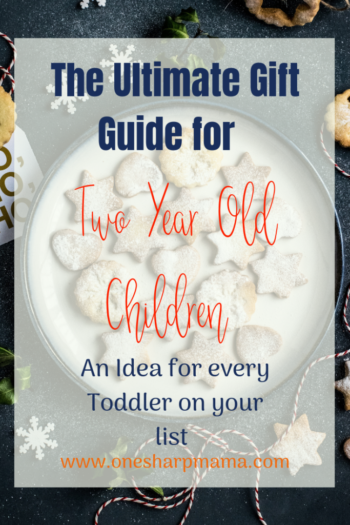 I've compiled a gift guide for two year olds. You can use this as any present ideas for two year old children whenever you need it throughout the year, but, it's perfect for christmas gift ideas for toddlers. Cross off your Christmas list with these present ideas for everyone. #presentidea #christmasgift #christmasidea #twoyearold