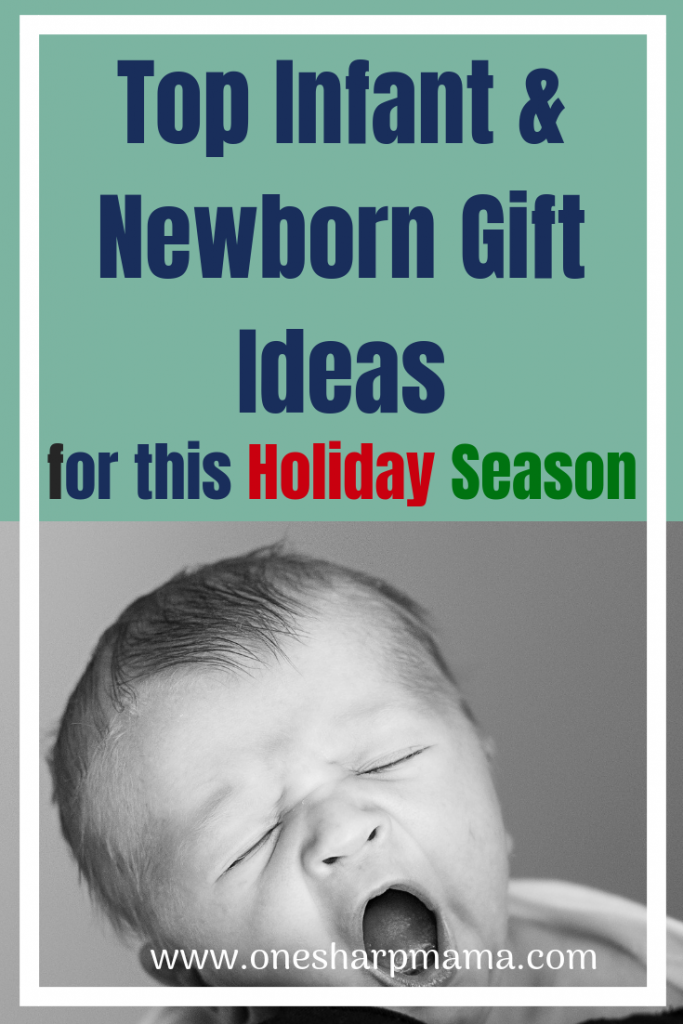 It's time to get holiday shopping. Do you have an infant or newborn on your christmas list to buy for? Check out these infant and newborn gift ideas. They'll make the perfect christmas present for baby. #holiday #sponsored #christmasgift #presentidea #newborn present