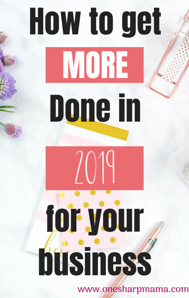 Learn how to be more productive in 2019 #productivity #productive Reach those business goals faster. Increase your production with this secret. #business #businesstips #goals