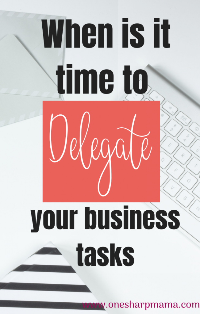 When do you know that it is time to delegate some of your business duties? In order to reach your business goals, sometimes you have to hand things off your plate to others for them to complete. Become more productive this year with your business. Here is how you reach your business goals quicklY! #business #goals #goalsetting #delegate #businesstasks