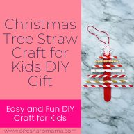 Christmas Tree Straw Craft