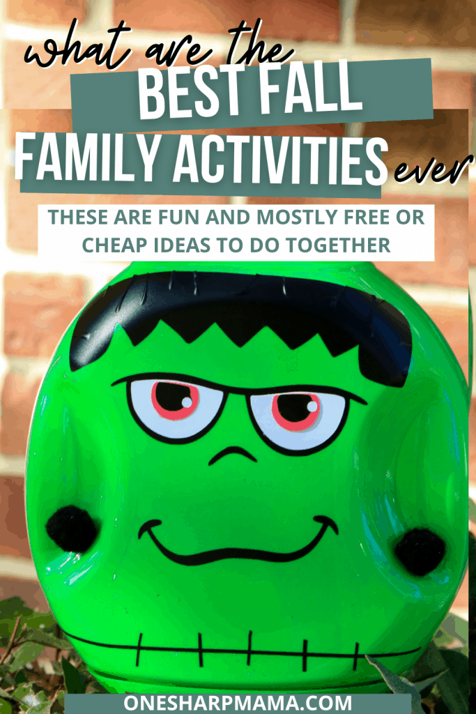Fun frankenstein fall craft adn other fun fall activites to do as a family.