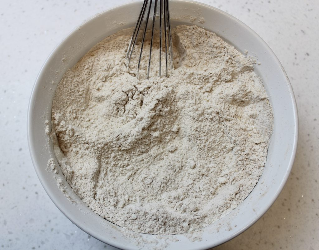 dry ingredients for mickey mouse gingerbread cookies