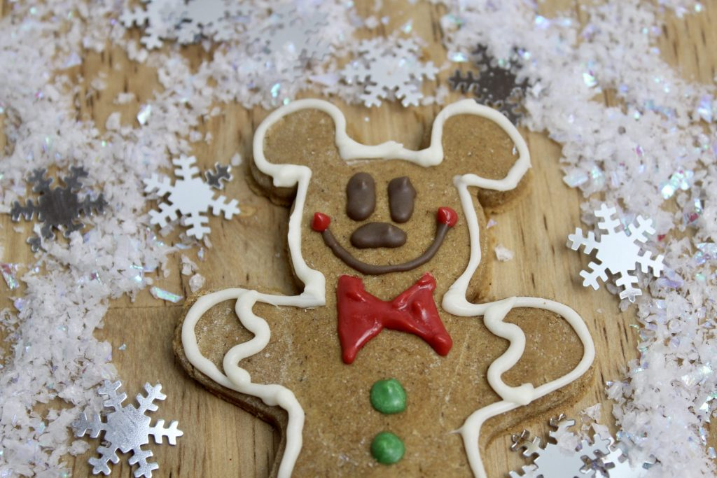 face of gingerbread cookie