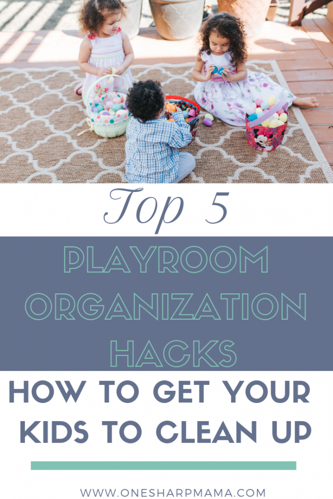 Here are the top 5 playroom organization hacks. If you need to organize and declutter your kids playroom, you need these cleaning tips. These organization tricks will help your kids learn easily how to clean up and organize their toys. #clean #organizing #parentinghack