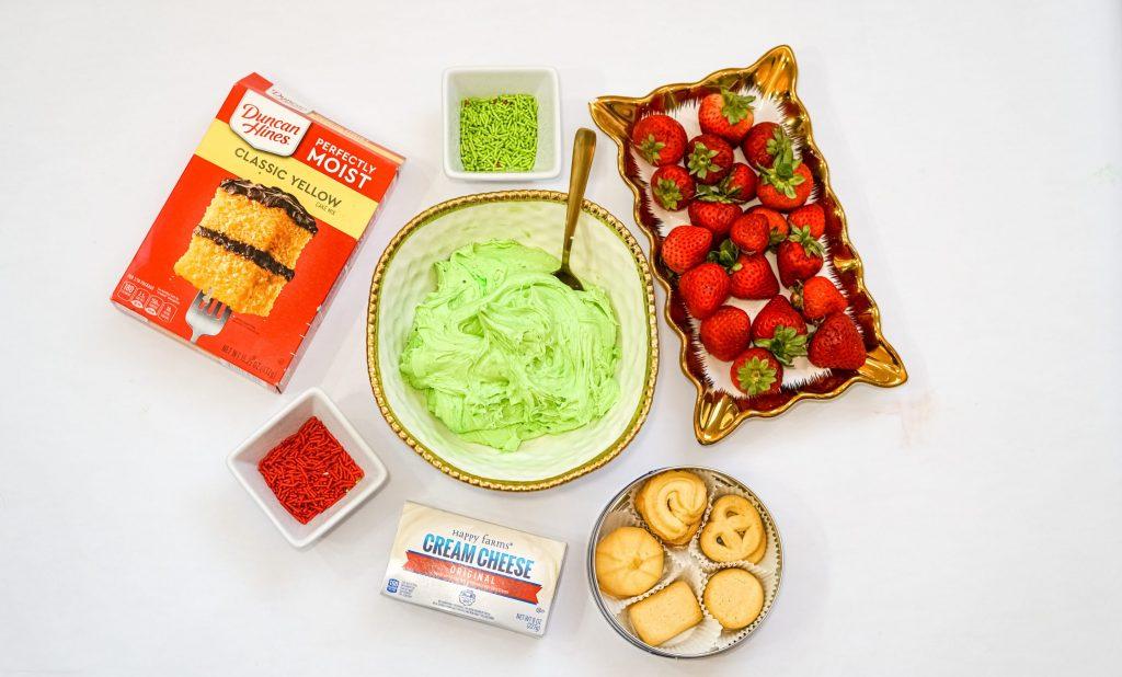 Adding green food coloring to Dunkaroo Christmas Dip
