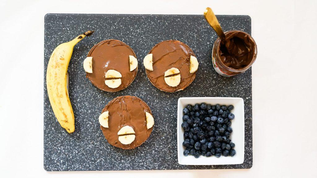 Monkey Nutella Rice Cakes Monkey Face