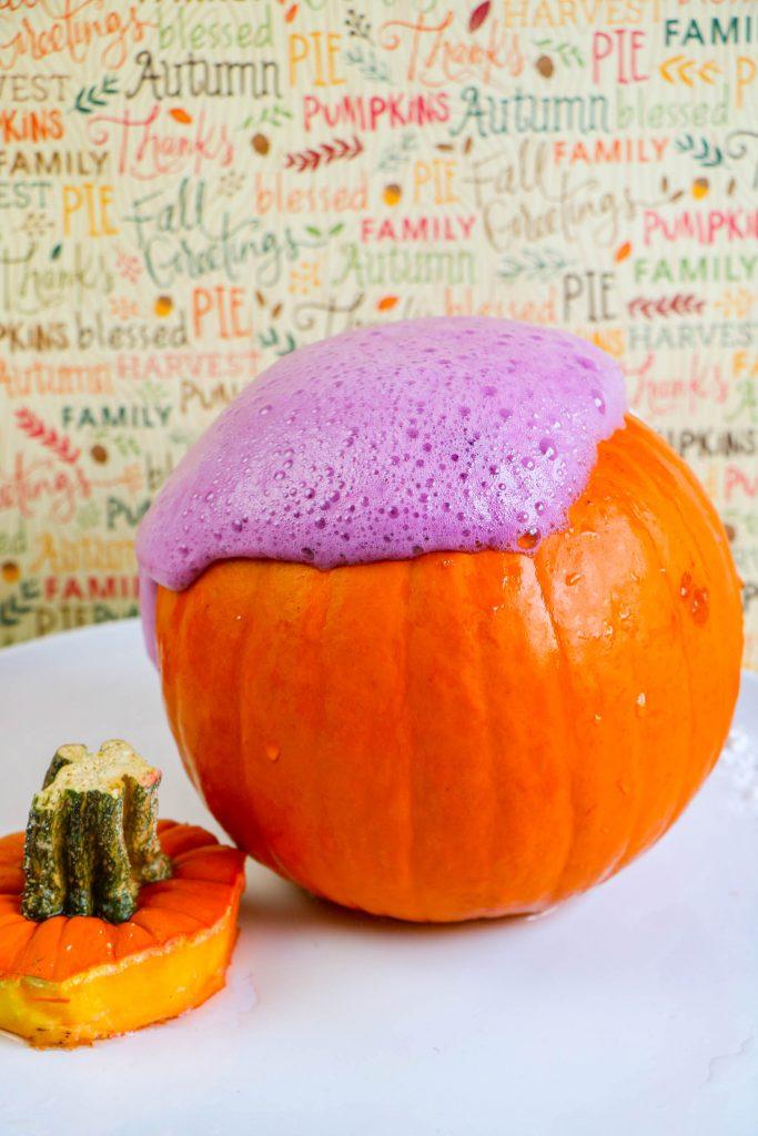 Pumpkin Volcano Experiment