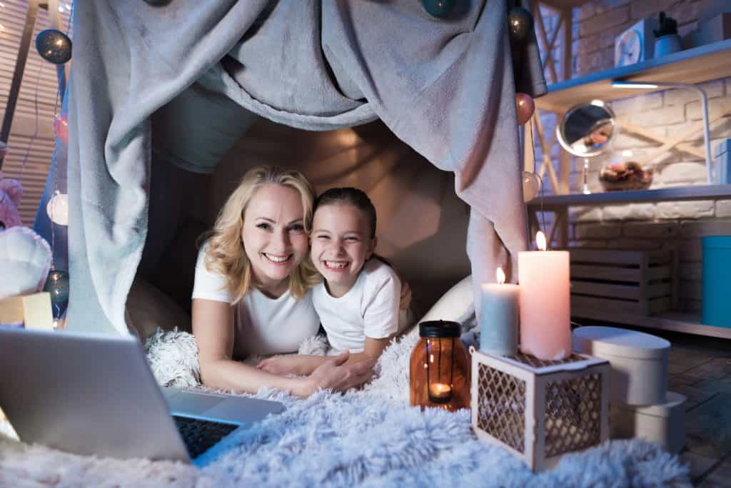 Make a blanket fort on new years eve.
