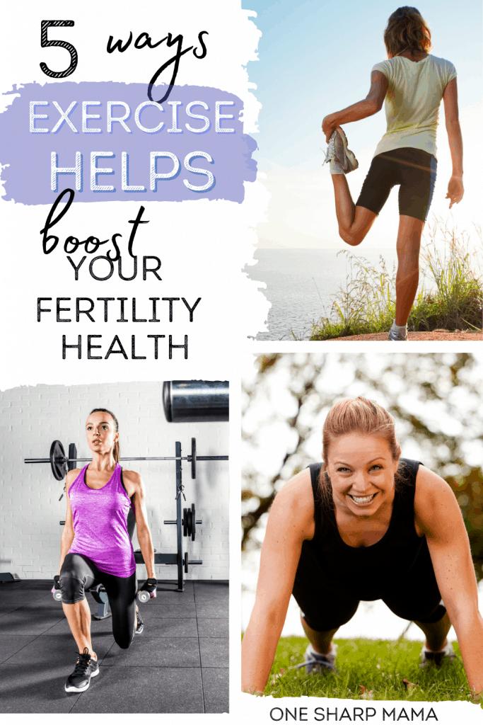 Women exercising to help boost fertility.