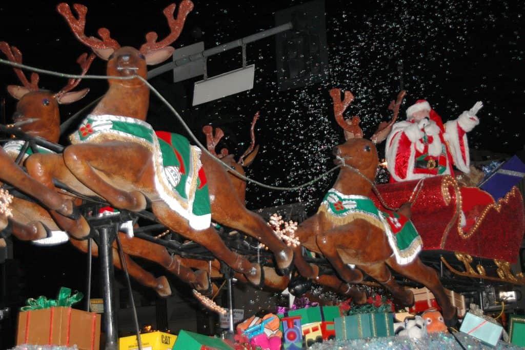 Santa in a Christmas Parade- a fun family christmas tradition