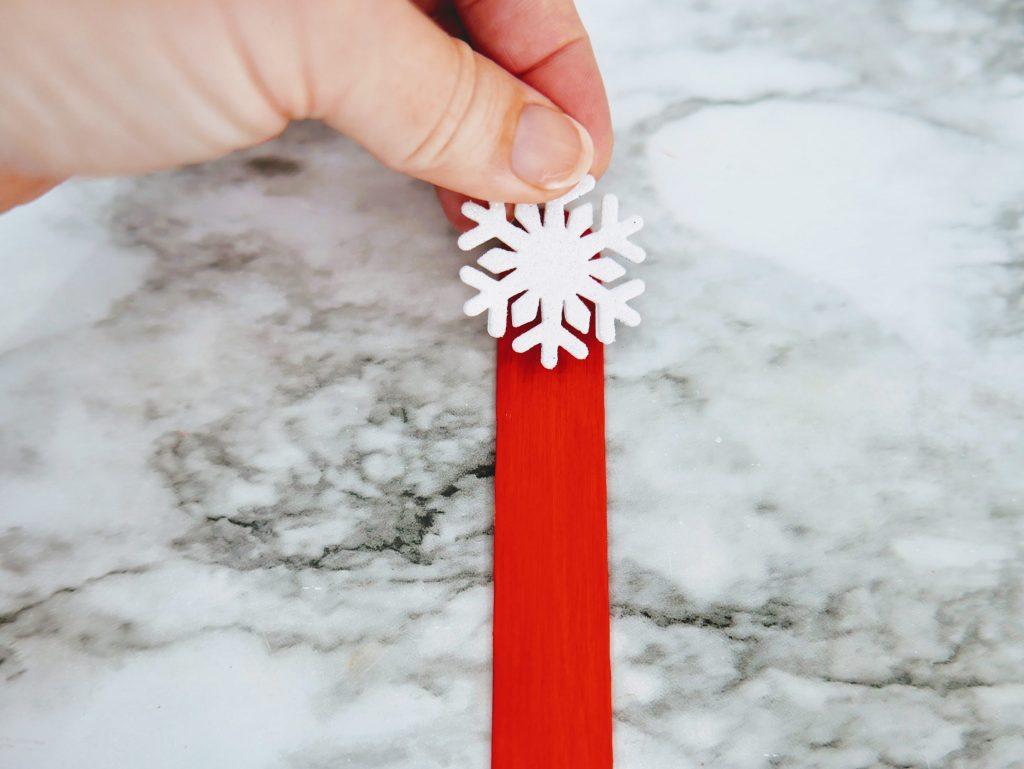 Christmas Tree Straw Craft snowflake sticker