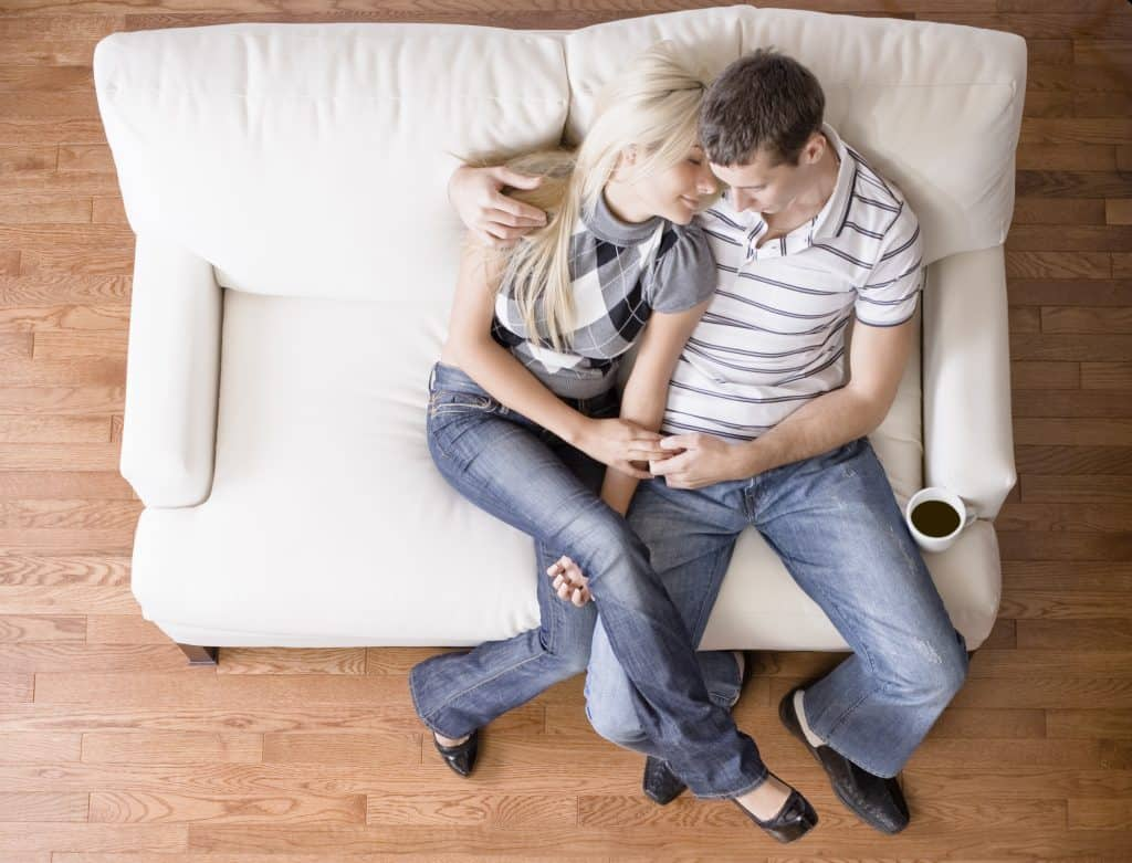 couple on a couch.