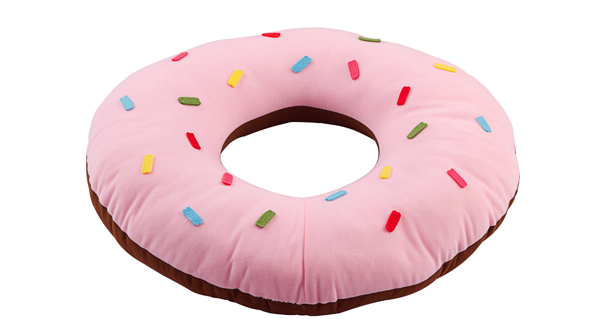 A donut pillow for postpartum health.