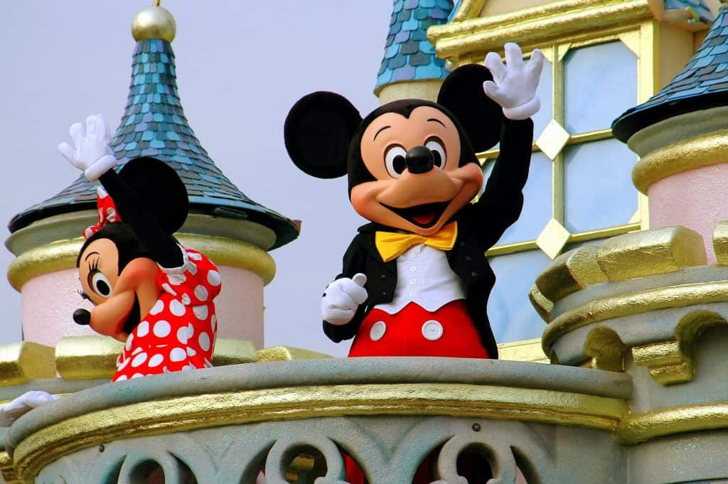 Mickey and Minnie at disney world