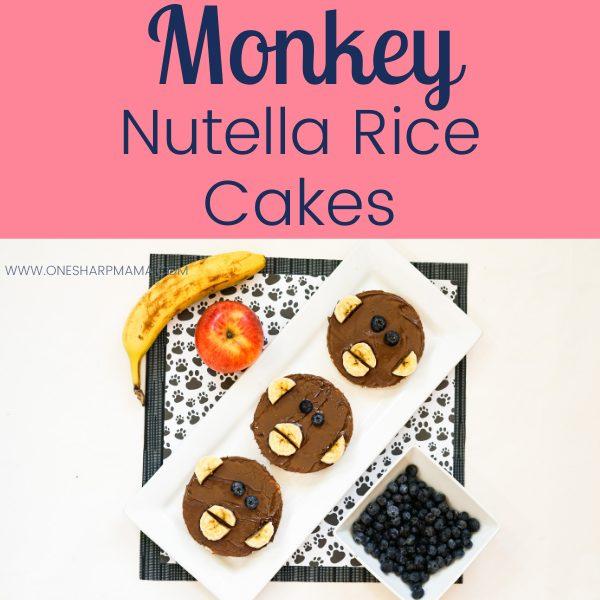 Monkey Nutella Rice Cakes