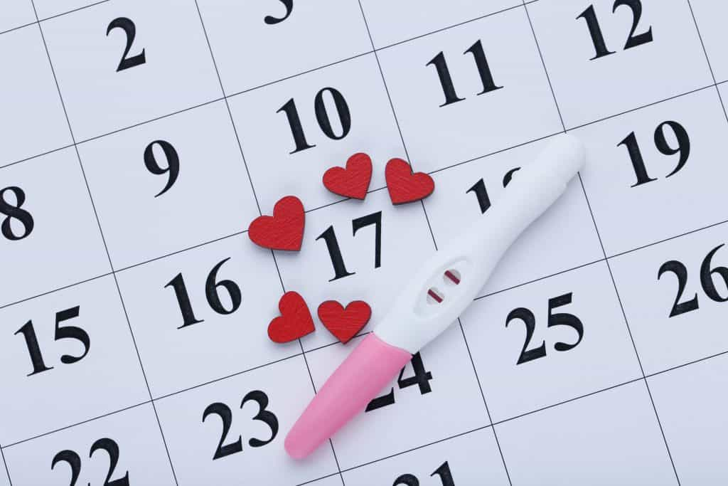 Calendar to help with tracking ovulation.