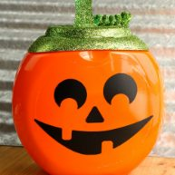 Halloween Pumpkin Tide Container Craft