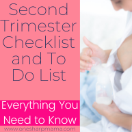 Second Trimester To Do List